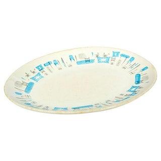 1960s Blue Heaven Pattern Oval Platter