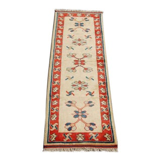 Turkish Konya Handmade Runner - 2′6″ × 8′
