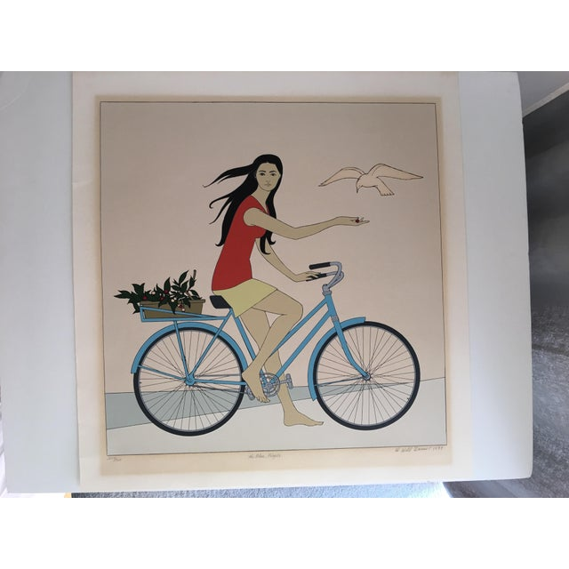 "Will Barnet ""Blue Bicycle"" Signed Serigraph - Image 11 of 11"