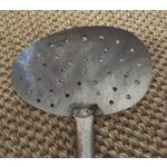 Image of Large War Era Aluminum Handled Strainer Spoon