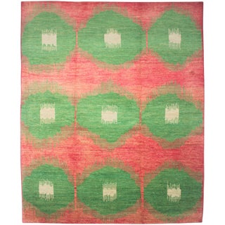 Aara Rugs Inc. Hand Knotted Ikat Rug - 10′7″ × 13′2″