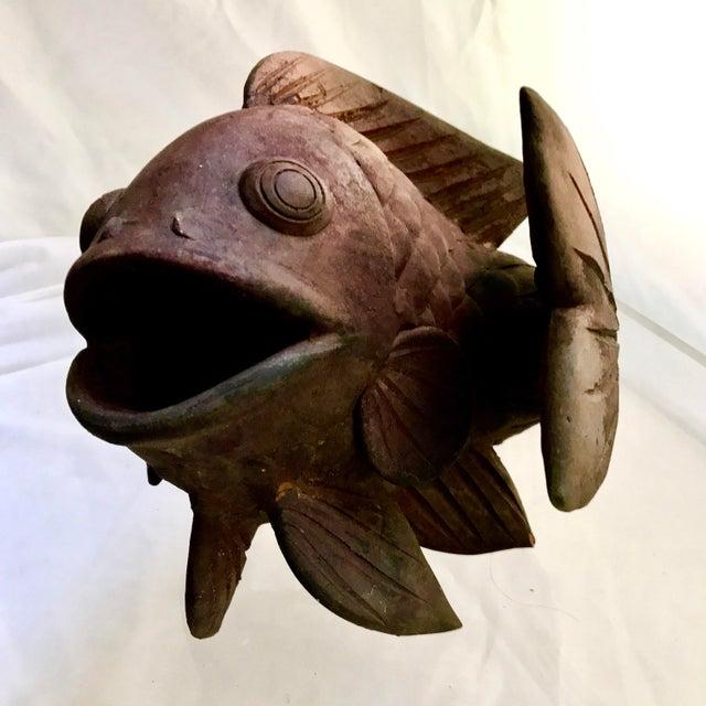 Antique Terracotta Fish Planter - Image 2 of 8