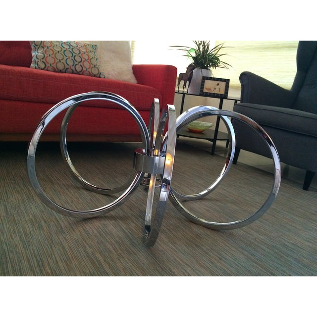 Milo Baughman Chrome Concentric Coffee Table Base - Image 6 of 6