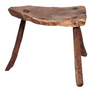 Antique Decorative Wood Tripod Stool