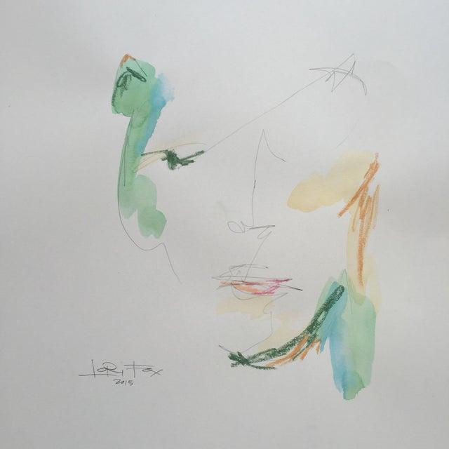 Lori Fox Watercolor & Oil Pastel Painting - Image 1 of 5