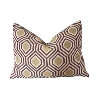 Purple & Gold Geometric Pillows- A Pair