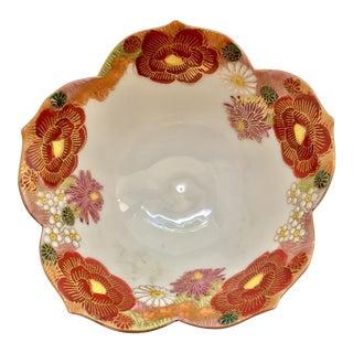 Vintage Hand Painted Amari Lotus Bowl