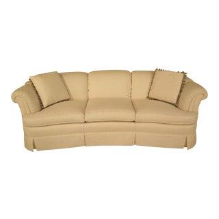 Kindel White Upholstered Curved Back Sofa