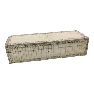 Indian Raj Carved Bone Box