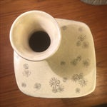 Image of Korean Buncheong Chrysanthemum Pottery Vase