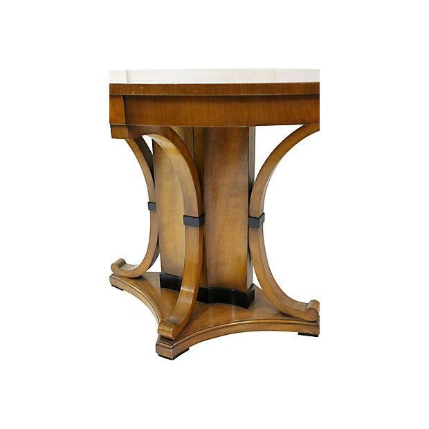 Vintage Cherry Oval Center Table - Image 3 of 4