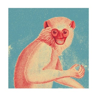 Vintage 'Red Monkey' Archival Print