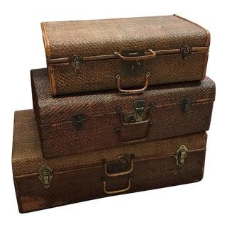 Vintage Chinese Luggage - Set of 3