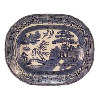 Staffordshire Blue Willow Platter
