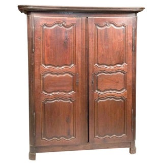 Brown Walnut French Armoire