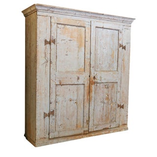 Antique Provincial Painted Italian Armoire
