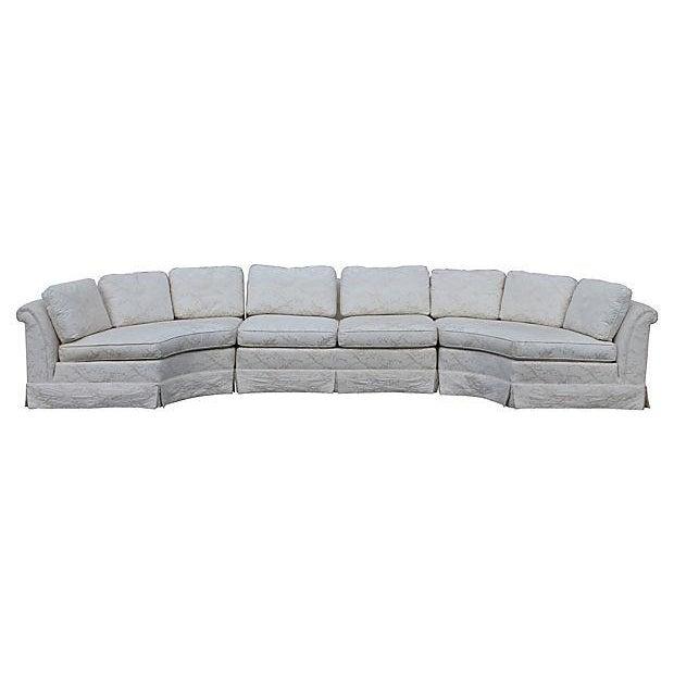 Grand baker sectional sofa chairish for Baker furniture sectional sofa