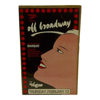 """Circa 1980 Vintage """"Off Broadway"""" Theater Poster"""