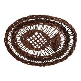 Vintage Woven Fish Basket