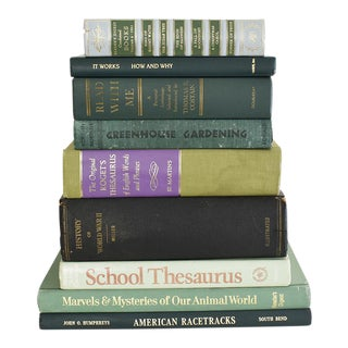 Vintage Green Book Collection - Set of 9