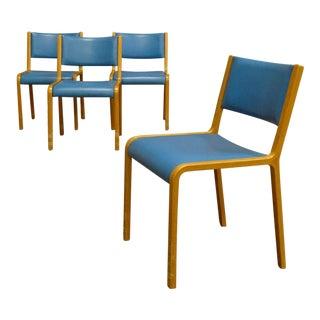 Scandinavian Bentwood Dining Chairs - Set of 4