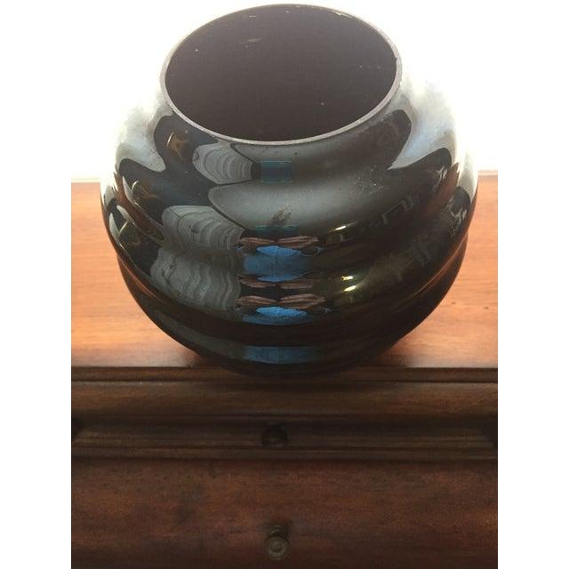 Mid-Century Black Art Glass Vase - Image 3 of 4