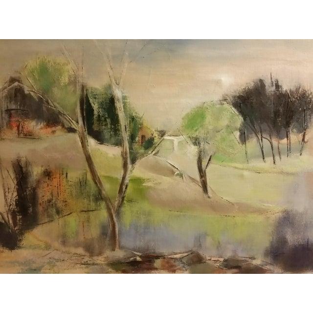 Mid-Century Impressionist Landscape Oil Painting - Image 3 of 6