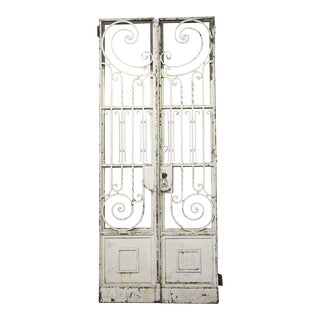 19th Century Tall Wrought Iron Entry Gates - A Pair