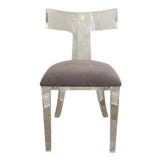 Curved Lucite Klimos Chair