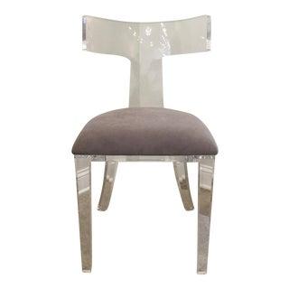 Curved Lucite Klismos Chair