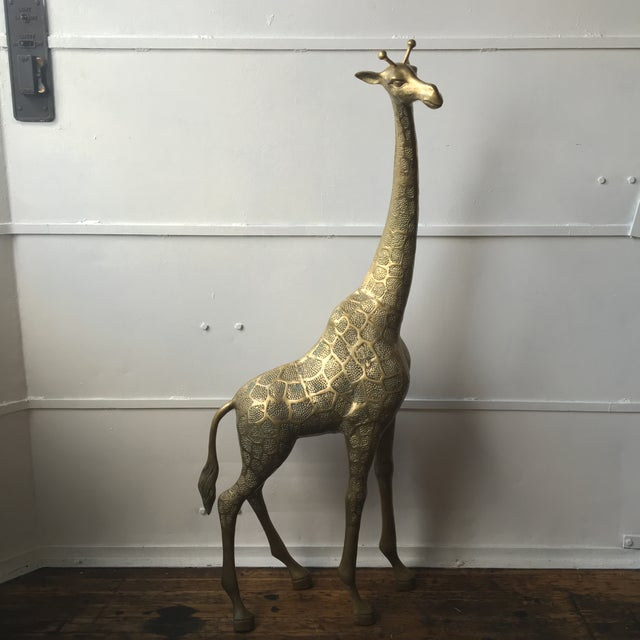 Lifesize Brass Giraffe - Image 2 of 8