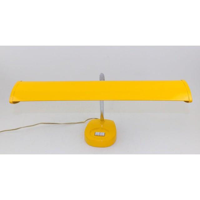 Antique Marigold Yellow Goose Neck Tanker Desk Lamp - Image 7 of 7