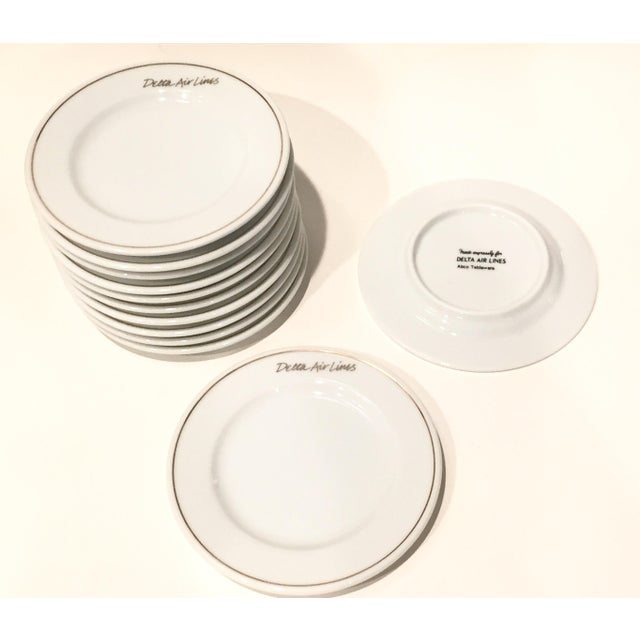 Gold Rim Delta Air Lines Plates - Set of 12 - Image 4 of 4