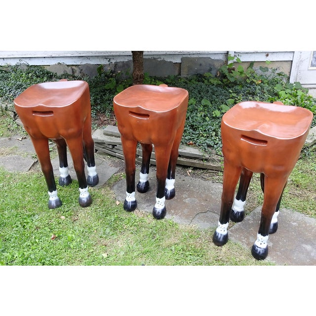 Horse Shaped Bar Stools Set Of 3 Chairish