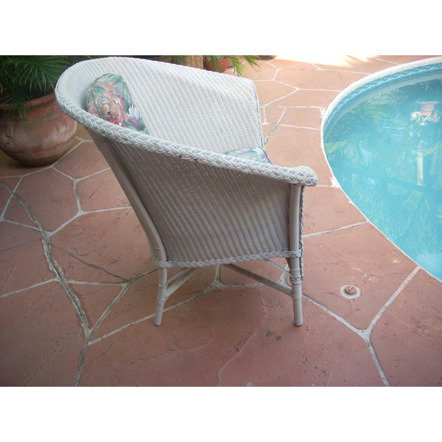 Contemporary Cottage Wicker Chair & Rocker - a Pair - Image 5 of 8