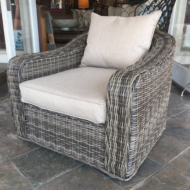 Woven Outdoor Lounge Chair - Image 2 of 7