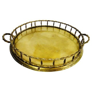 Brass Bamboo Chinoiserie Tray