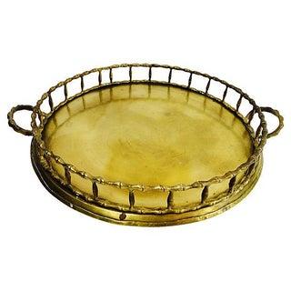 Brass Bamboo Chinoiserie Tray