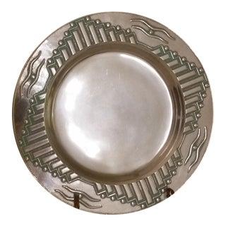 Vintage Wilton Armetale Southwest Round Platter