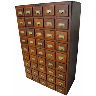 45-Drawer Hardware Store Apothecary Cabinet