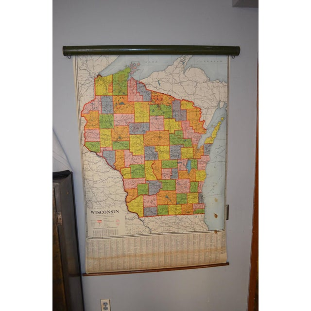 Classroom Map of Wisconsin Wall Mount - Image 2 of 10