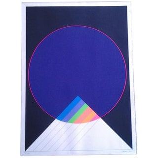 French Modern Art Lithograph, 1972