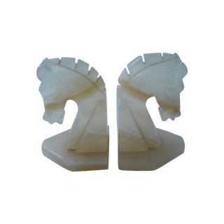 Onyx Horse Head Bookends - 2