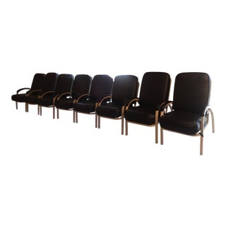 Leather & Metal Arm Chairs - Set of 4 or 8
