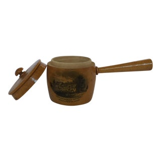Miniature Mauchline Ware Pot