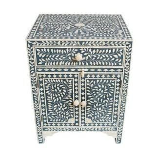 Bone Inlay Blue Side Cabinet