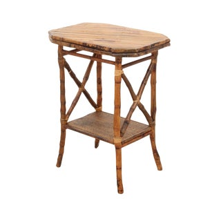 Split Bamboo Accent Table