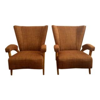 Paolo Buffa Style Italian Mid-Century Armchairs - A Pair