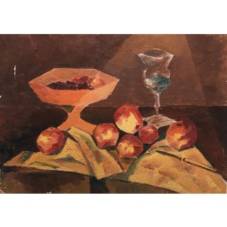 Vintage Abstract Still Life Painting