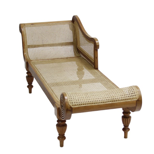Image of 19th Century Anglo-Indian Chaise Lounge